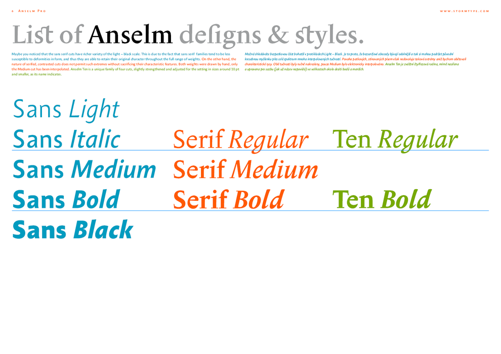 Anselm Sans & Serif Gallery | Storm Type Foundry